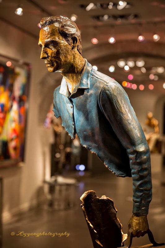 Bronze sculpture at St. Paul de Vence France
