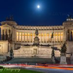 Altar of the Fatherland by night in Rome Italy