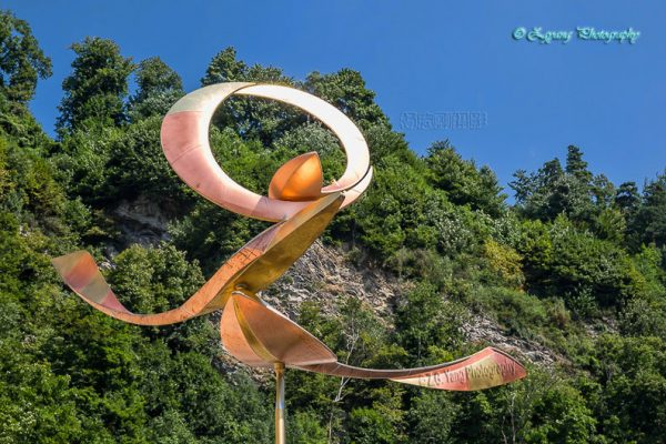 Art sculpture in Vaduz Liechtenstein