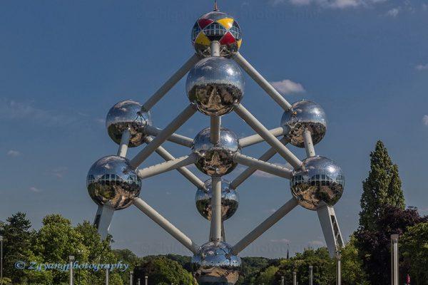 Atomium tower in Brussels Belgium