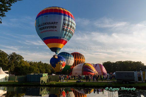 Time-lapse of Barneveld balloon festival