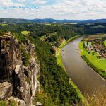 Basteiblick and Elbe river Germany