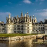 Castle Chambord with moving clouds
