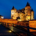 Castle Saumur by night France