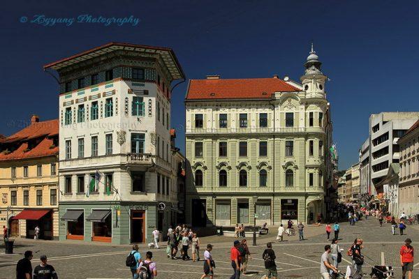 City center Ljubljana Slovenia