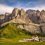 Dolomite peaks at San Cassiano