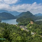 Castle Hohenschwangau and Lake Alpsee