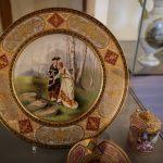 Porcelain plate in castle Schwerin Germany
