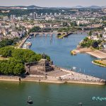Deutsches Eck in Koblenz Germany