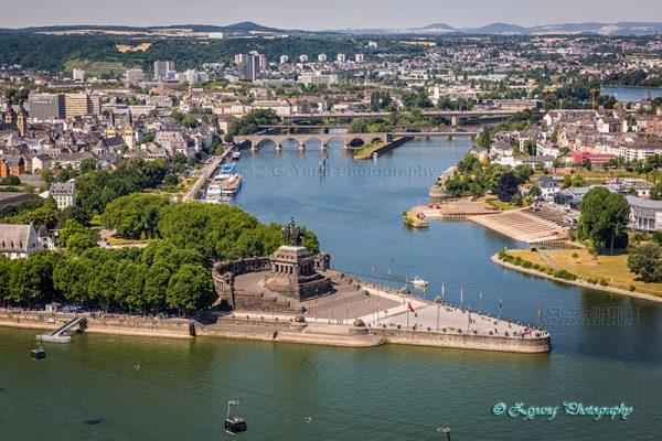 Deutsches Eck in Koblenz Germany