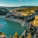 Reservoir lake embalse santolea Spain