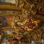 Classic ceiling decoretion of le Train Bleu in Paris France