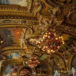 Classic ceiling decoretion of le Train Bleu in Paris France