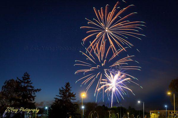 Fireworks on liberation day in Hilversum Netherlands