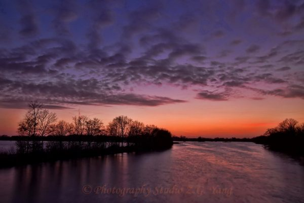 Lake Loosdrecht at dusk