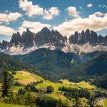 Mont di funes Santa Maddalena in Dolomite Italy