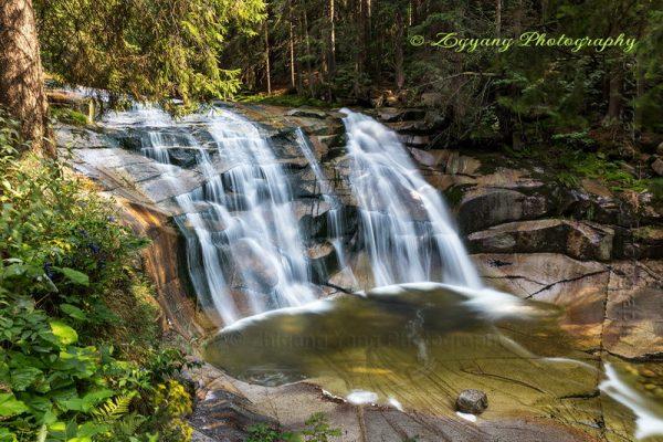 Mumlava waterfall Czech