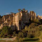 Sand rock columns at Orgues d'Ille-sur-Tet