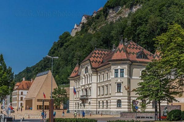 Parlement building in Vadux Liechtenstein