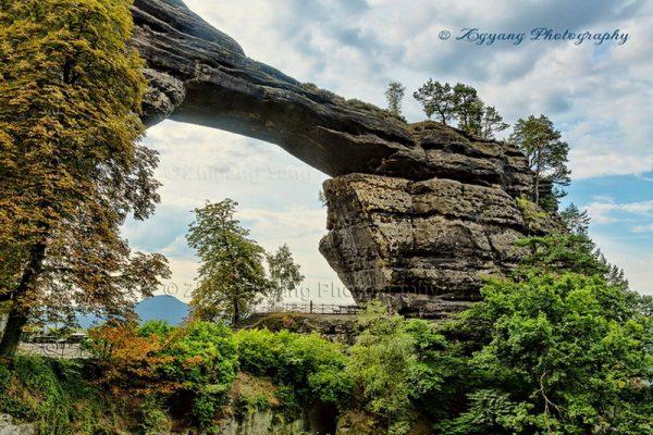 Rock arch at Pravcicka brana Czech
