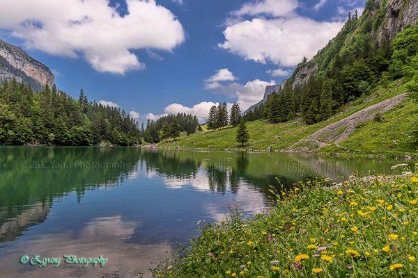 Landscape of Lake seealpsee