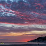 Sunset moment at le Have beach France