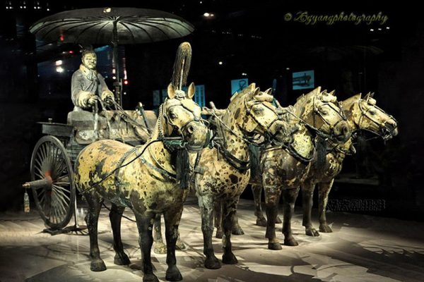 Bronze carriage in Museum Qin Terracotta China