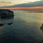 Waiting for sunset at Etretat cliffs