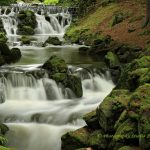 Waterfall of bergpark Wilhelmshohe in Kassel Germany