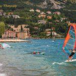 Windsurfing at Lake Garda Italy