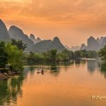 Karst hills along Yulong river