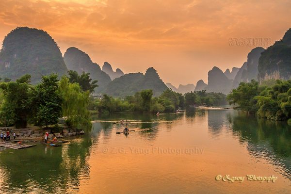 Karst hills along Yulong river