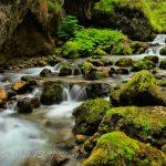 Waterfall in serrai di sottoguda Italy