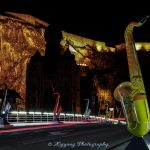 比利时迪南布满萨克斯管的戴高乐桥