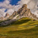 意大利多洛米蒂山脉的五塔峰