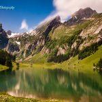 瑞士希阿尔卑湖绚丽风光
