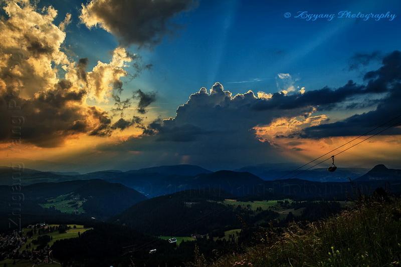 sunset-at-dolomite-carezza-trentinos