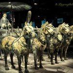 秦始皇博物馆的兵马俑战车