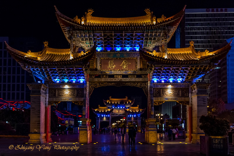 golden-horse-memorial-archway-on-jinbi-road-kunming-city